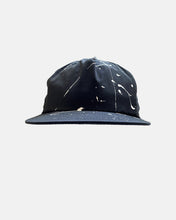 Black hand painted nylon cap