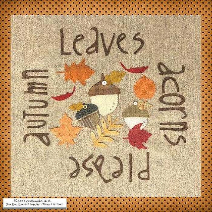 Autumn Leaves Acorns Please Wool Applique Patterns