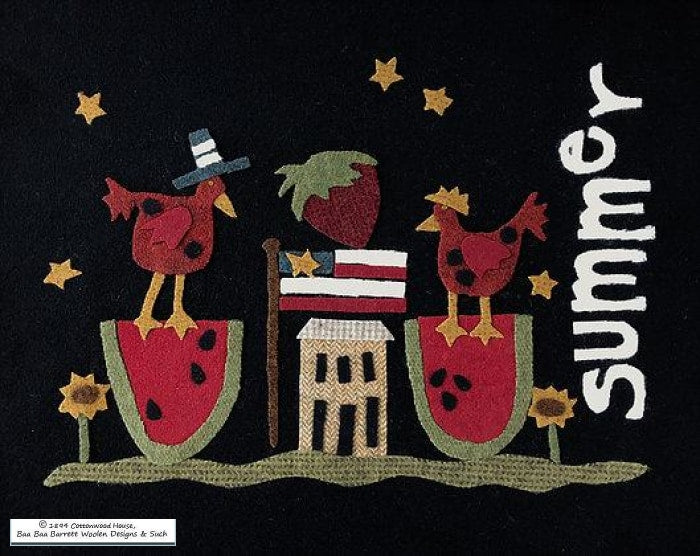 Cottonwood House Summer Wool Applique Patterns