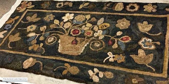 Mustard Floral Rug Hooking Patterns