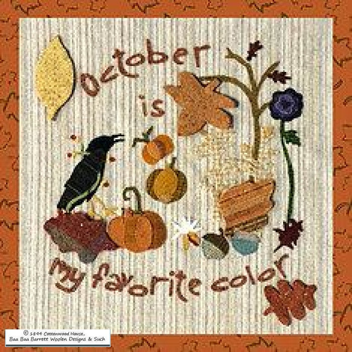 October Is My Favorite Color Wool Applique Patterns