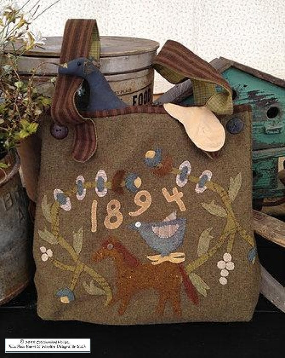 Summer Meadow Wool Hand Bag Applique Patterns