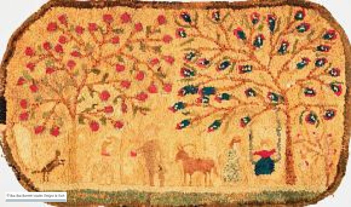 Swinging In The Orchard Rug Hooking Patterns