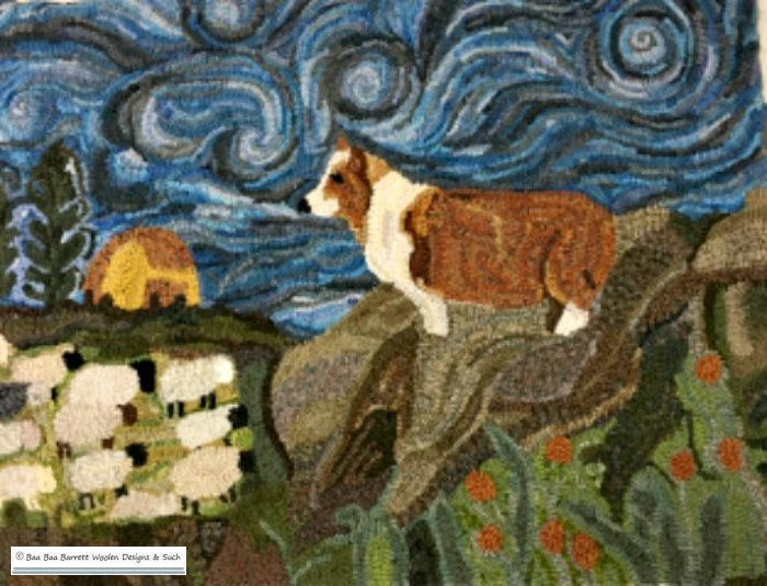 The Brides Corgi Rug Hooking Patterns