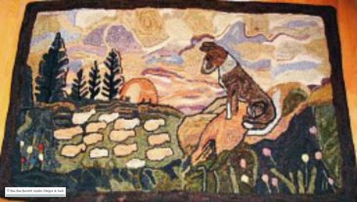The Collies Flock Rug Hooking Patterns