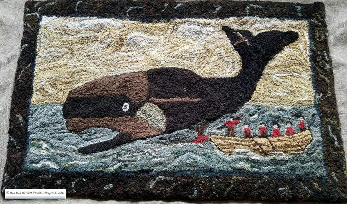 Whale Hunt Rug Hooking Patterns