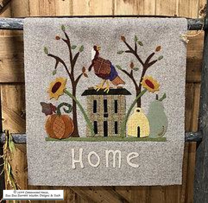 When I Am With You Im Home Wool Applique Patterns