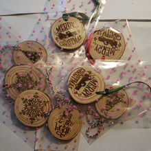 Laser Etched Christmas Ornaments Wood Rounds