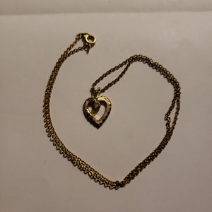Heart w/ center cz necklace