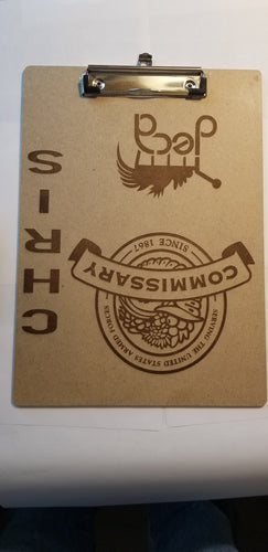 Laser Etched Clip Board