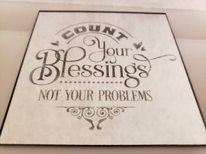 Etched Sayings 4x4 mirror