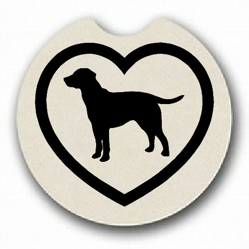 Labrador in Heart Car Coaster