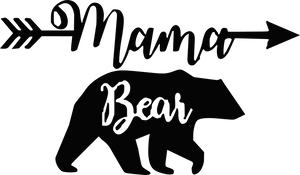 Mama Arrow Bear Decal