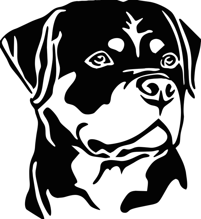Rottie Head Decal