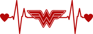 Wonder Woman Heartbeat Decal