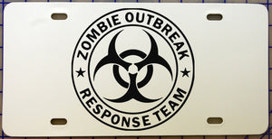 Zombie Outbreak License Plate