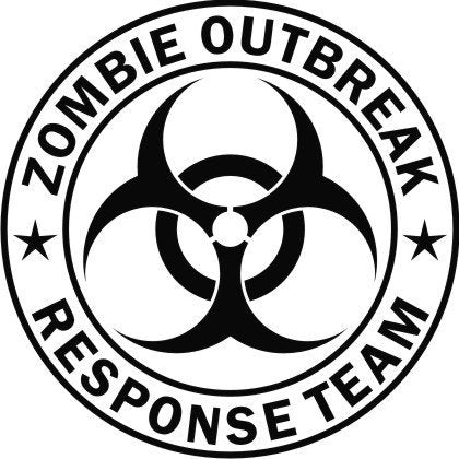Zombie Outbreak Decal