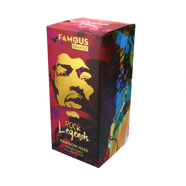 ROCK LEGENDS JIMI RAINBOW HAZE WATER PIPE 12 IN.
