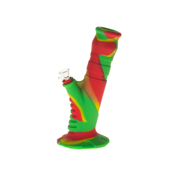 "Silicone Water Pipe 10"" 2 pc Herb"