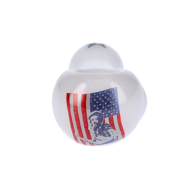 Rock Legends Jimi USA Spoon Pipe White 4 in.