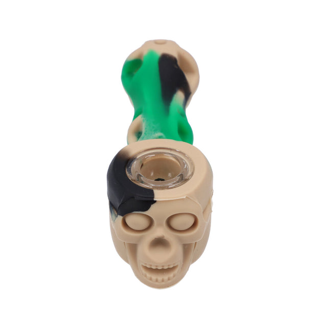 Silicone Skull Pipe Assorted Colors
