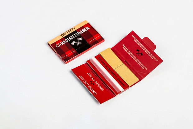 Canadian Lumber Rolling Papers-1 1/4 with Tips Pack of 22