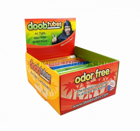 Container Doob Tubes 25/Box Mixed Colours