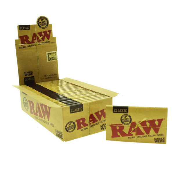 Rolling Papers Raw Classic Single Wide Double Window 25 Pack
