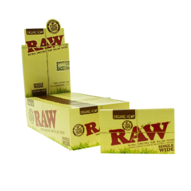 Rolling Papers Raw Organic Single Wide Double Window 25 Pack
