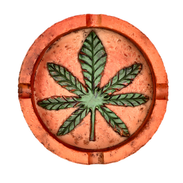 Resin Pot Leaf Ashtray