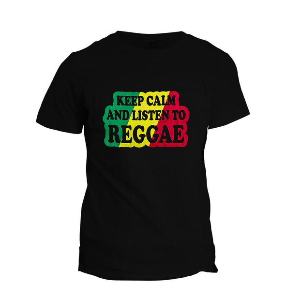 T-Shirt Keep Calm & Listen To Reggae