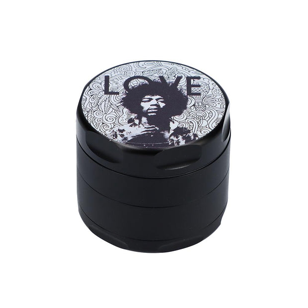 Rock Legends Jimi Love Black 55mm 3 Stage Grinder