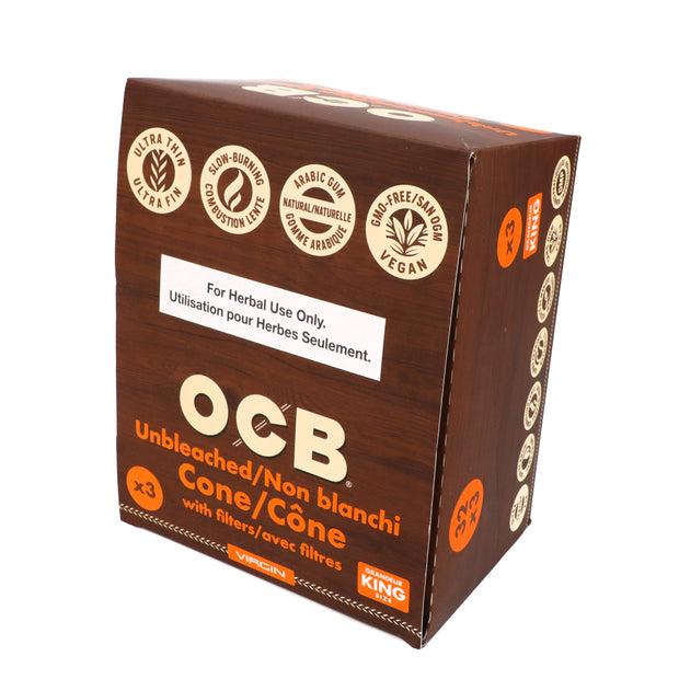 OCB-Unbleached Cones 32/Pack-King Size