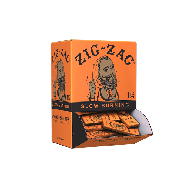"Zig-Zag Slow Burning Rolling Papers – 1 ¼""Orange – 25 Pack"