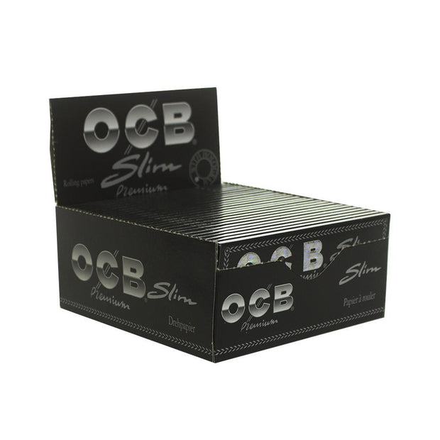 Rolling Papers OCB Premium Black Single Wide Single Window 50 Pack