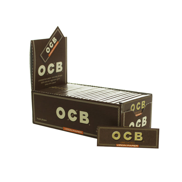 Rolling Papers OCB Unbleached Single Wide Single Window 50 Pack
