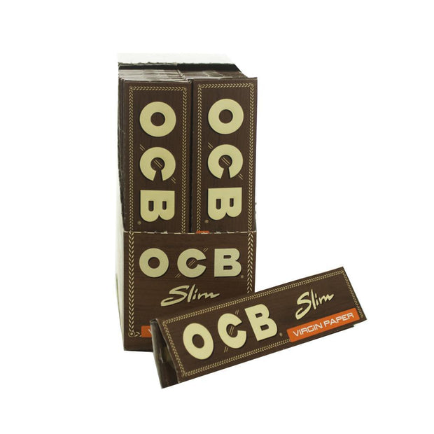 Rolling Papers OCB Unbleached Slim King Size 50 Pack