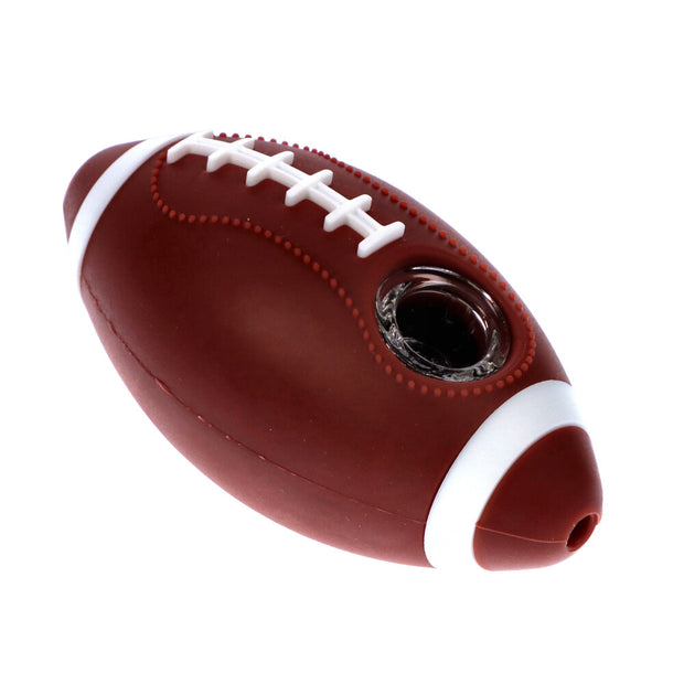 Silicone Football Pipe Brown