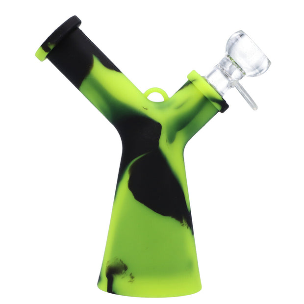 6.2 inch Mr Y Water pipe with glass bowl Lime Green Black