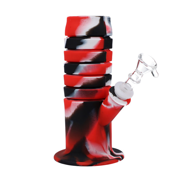 11.5inch flexible straight water pipe with glass bowl