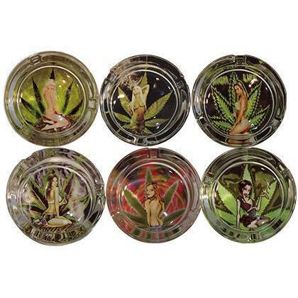 Ashtrays - Ganja Girls Assorted styles.