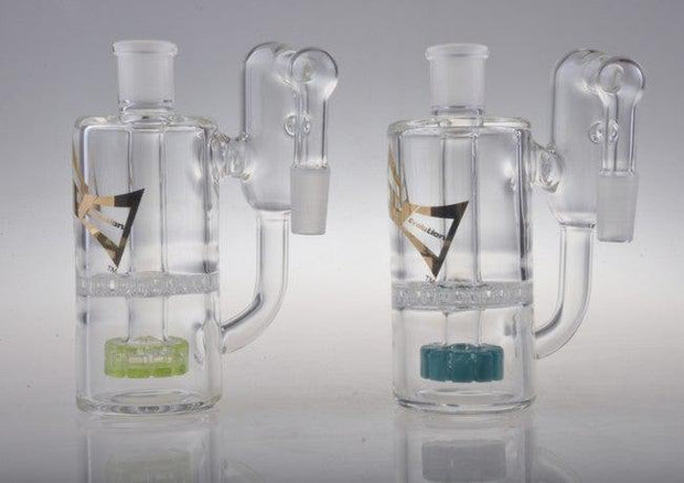 "Evolution Glass ""Sun Dog"" Ashcatcher with Showerhead & Honeycomb Perc"