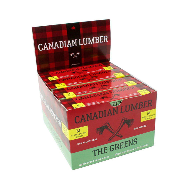 Canadian Lumber-Greens Cones-98/26-Medium 24 Pack