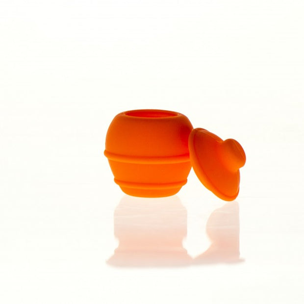Silicone Container Honey Jar 35ml orange
