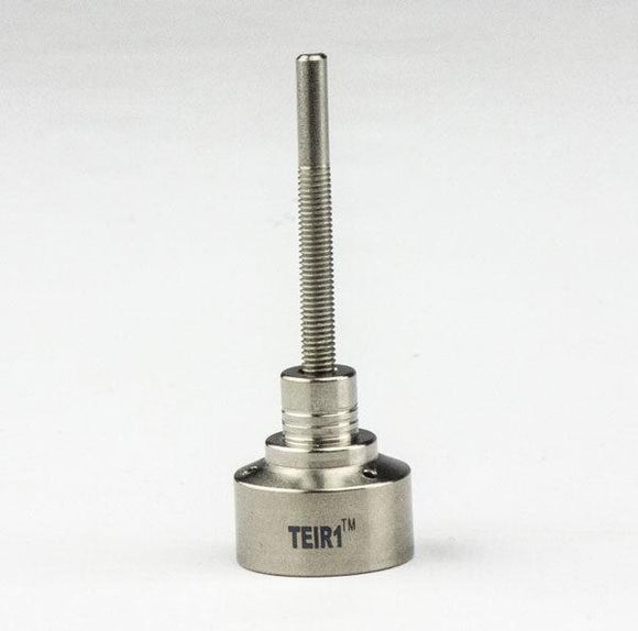 Titanium Grade 2 Carb Cap w Threaded Handle, three angled hole
