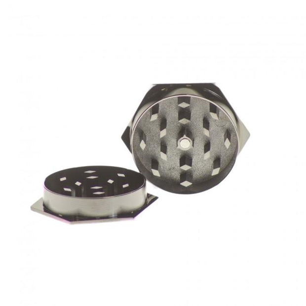 Hexagon Pot Leaf Grinder 2pc Open