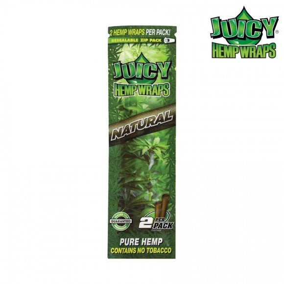 Juicy Jay Hemp Wraps 2X Natural, Box of 25 2/Pack