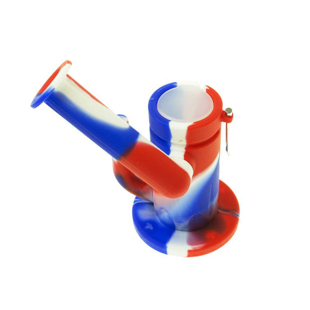 silicone dab ring with 4mm banger , top wax container and steel dabble