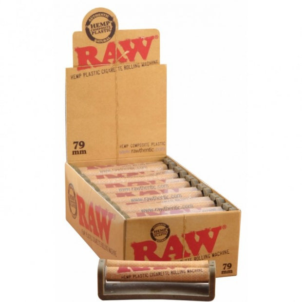 ROLLING MACHINE RAW HEMP PLASTIC 79MM 12/BOX