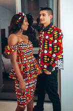 Load image into Gallery viewer, Wunmi African Print Long Sleeved Shirt